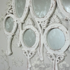 White Vanity Wall Mirror