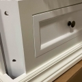 White Vintage Bedside Table - Daventry White Range - IMPERFECT SECOND