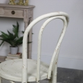 White Vintage Wooden Distressed Dining Chair