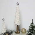 White Woolly Christmas Tree Ornament - Large