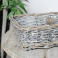Wicker Basket Tray with Heart Detail