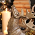 Wood Effect Reindeer Sleigh