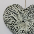Woven Wooden Willow Heart - Medium