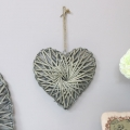 Woven Wooden Willow Heart - Small
