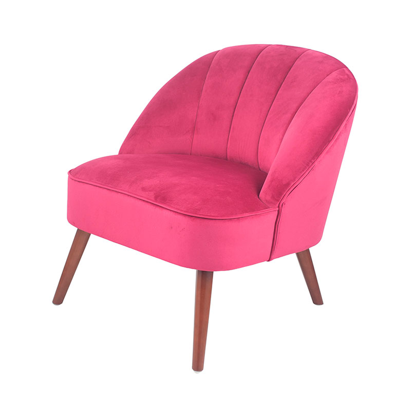 Hot Pink Velvet Occasional Chair SO LL
