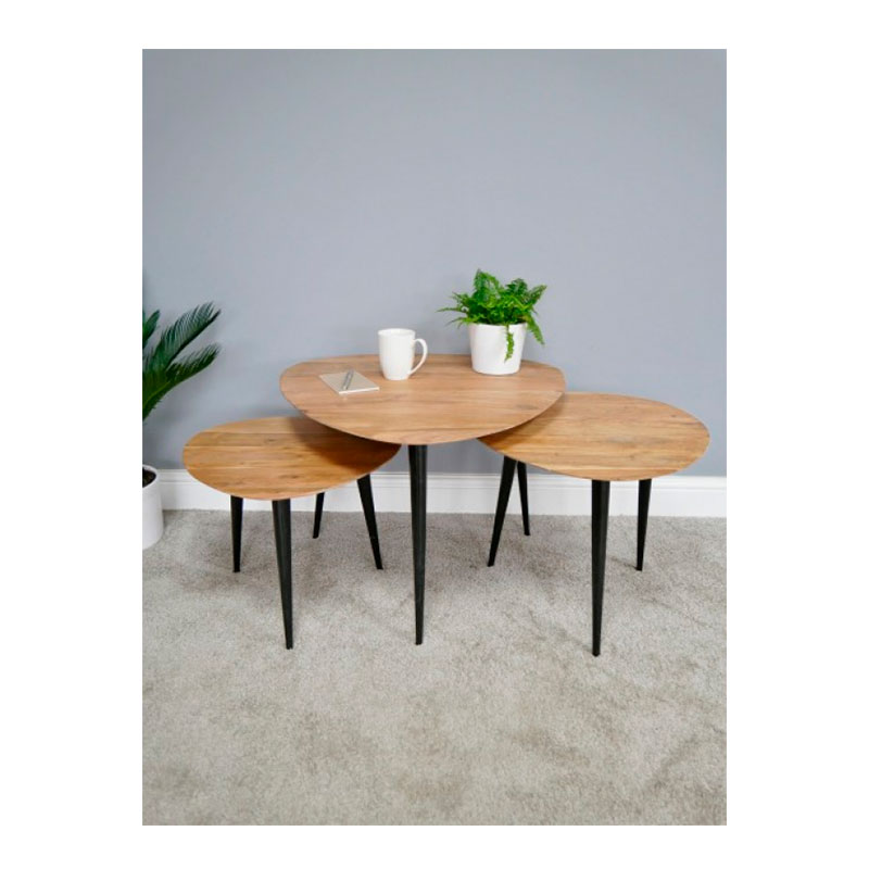 Set of 3 Modern Wood Tables