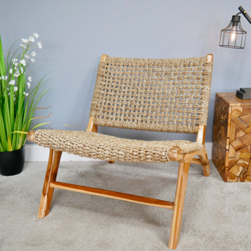 Wood & Rattan Chair