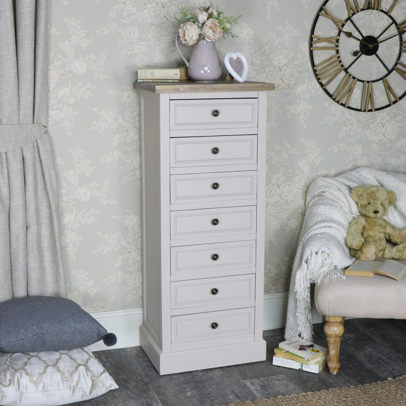 7 Drawer Tallboy Chest of Drawers - Cotswold Range