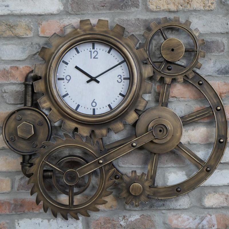 Large Industrial Cog Clock