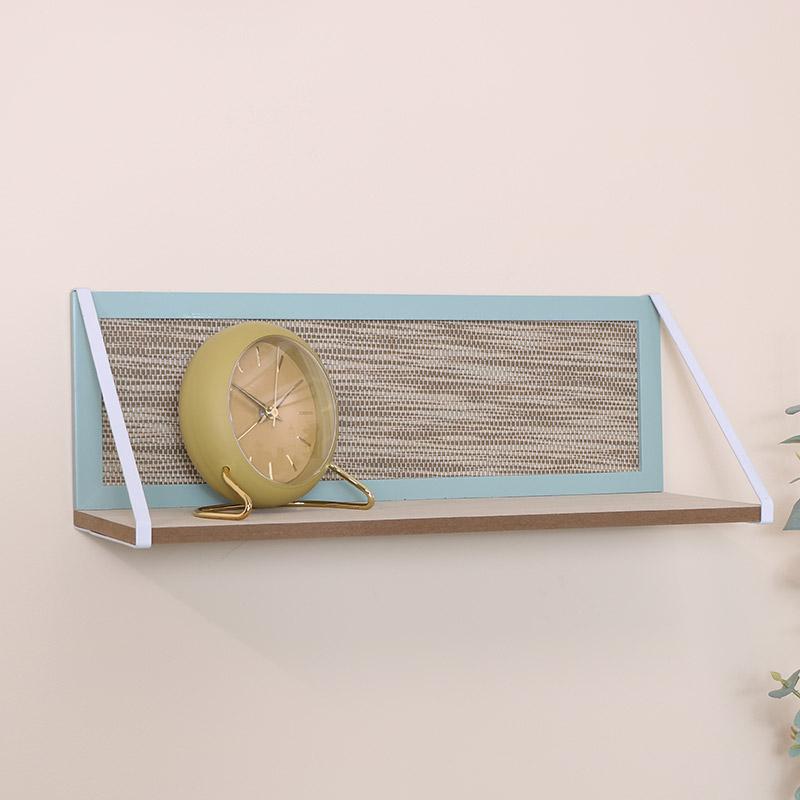 Small Green & White Wooden Shelf