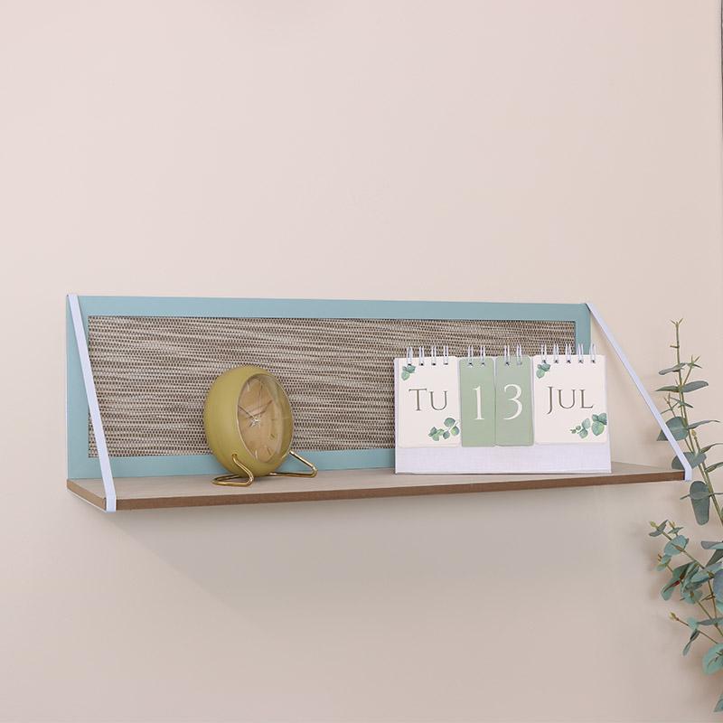 Large Green & White Wooden Shelf