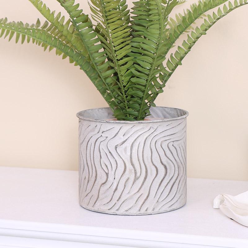 Medium Zebra Print Plant Pot