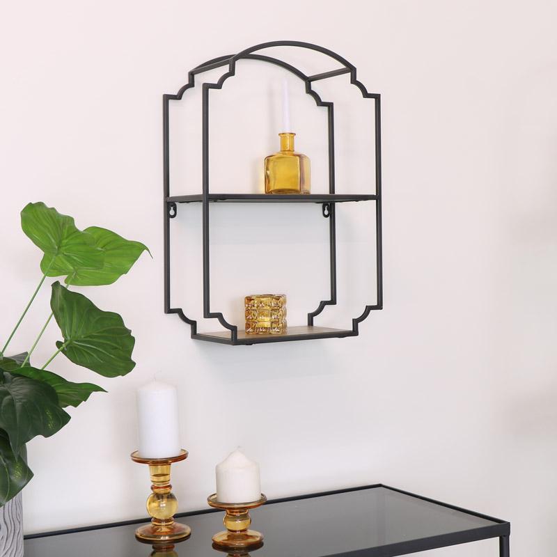 Industrial Metal Wall Mounted Shelf