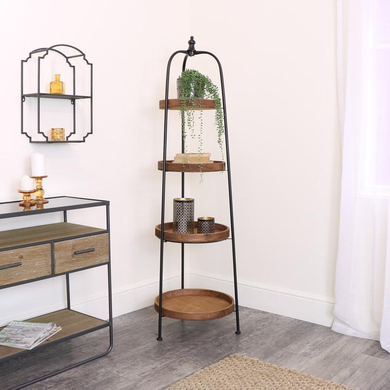 4 Tier Round Display Shelf