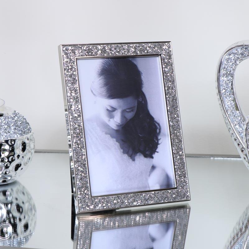Silver Glitter Photo Frame