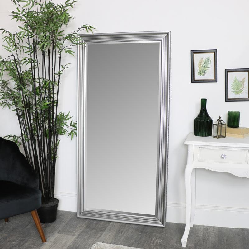 Large Silver Full Length Mirror 78 x 158cm