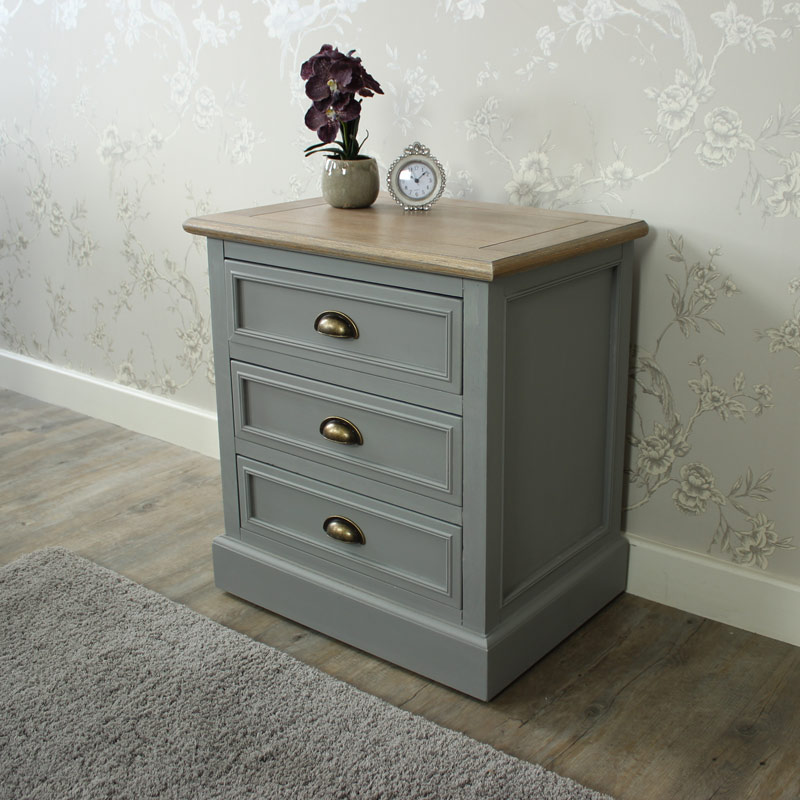 Three Drawer Bedside Chest - Admiral Range