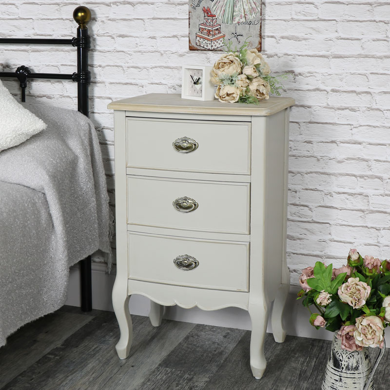 Vintage Grey Bedside chest - Albi Range