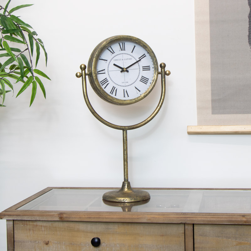 Antique Gold Standing Clock