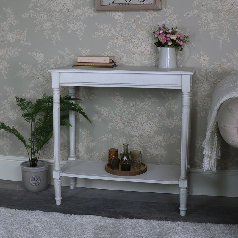 Antique White Console Table – Mia Range