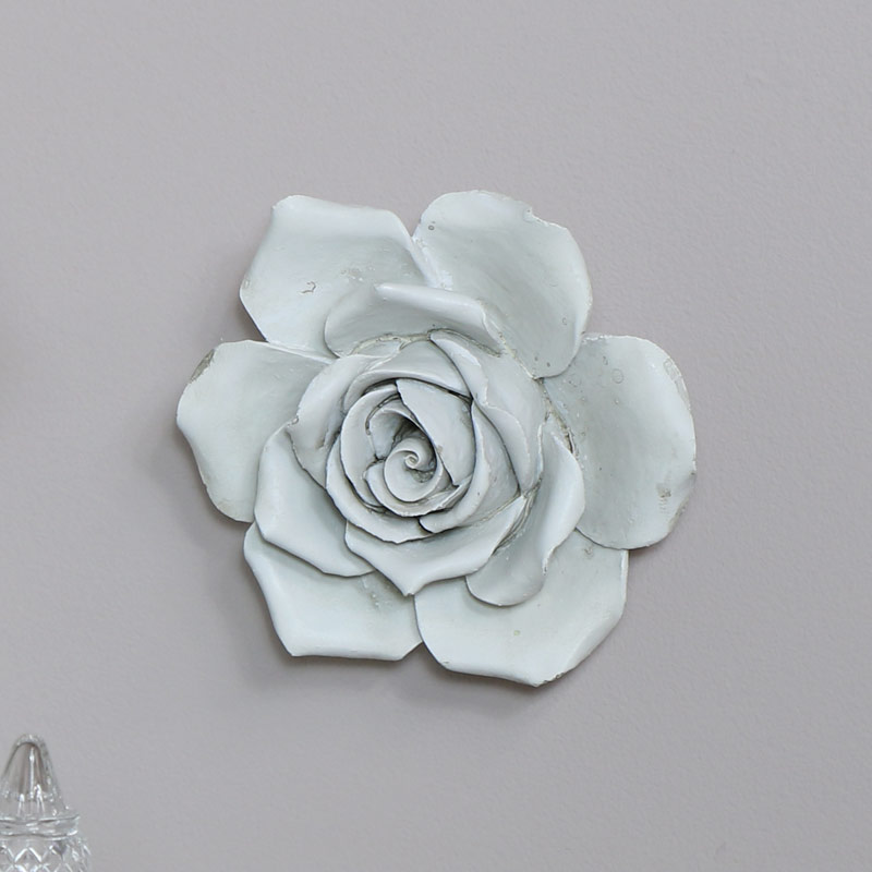 White Rose Wall Art