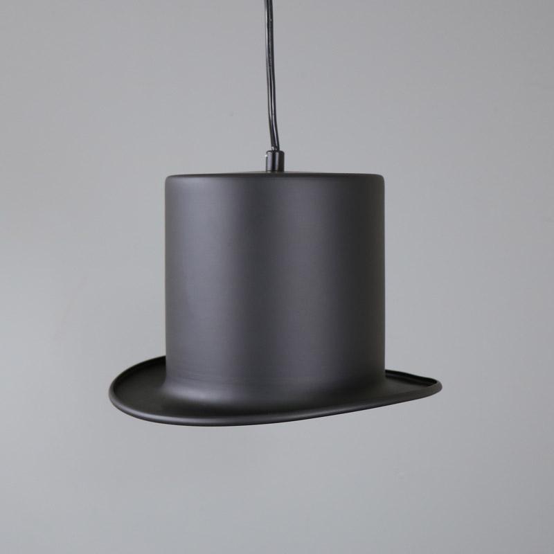 m tal noir chapeau melon pendentif fixation plafond vintage fantaisie clairage ebay. Black Bedroom Furniture Sets. Home Design Ideas