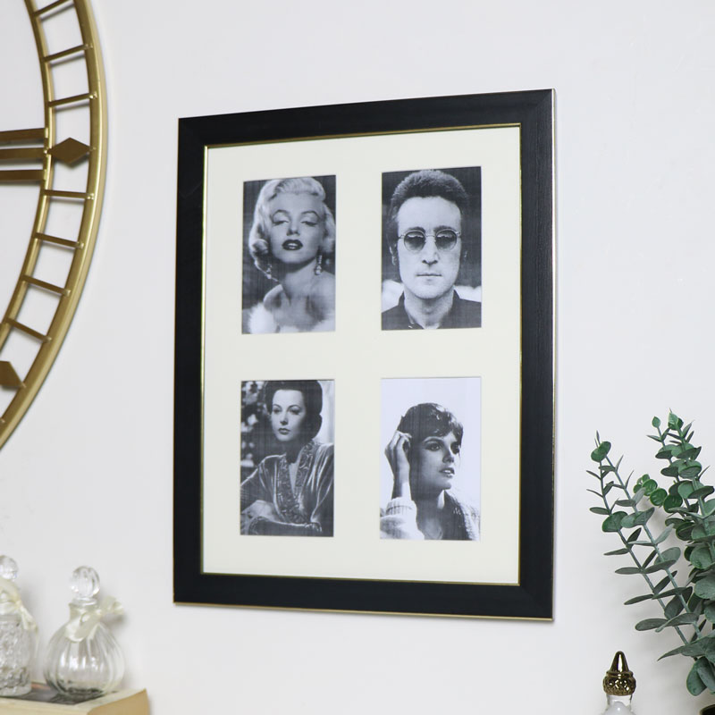 Black & Gold Photo Frame