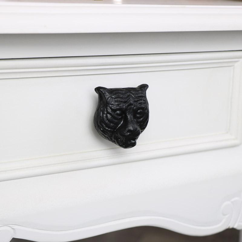 Black Tiger Head Drawer Knob