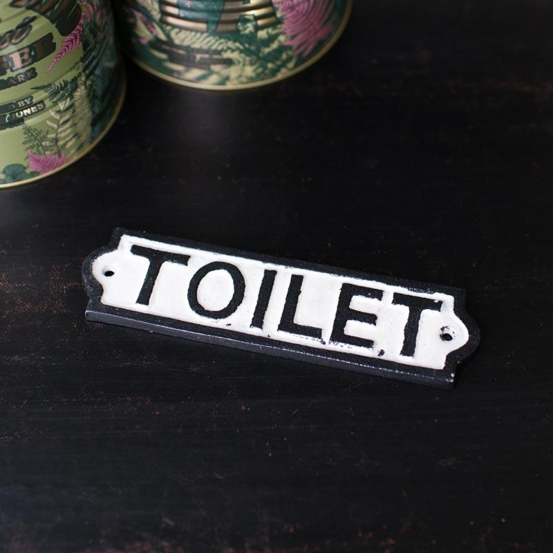 Black & White Metal Toilet Plaque