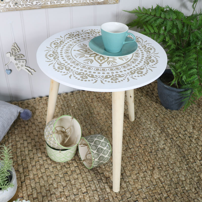 Boho Round Side Table