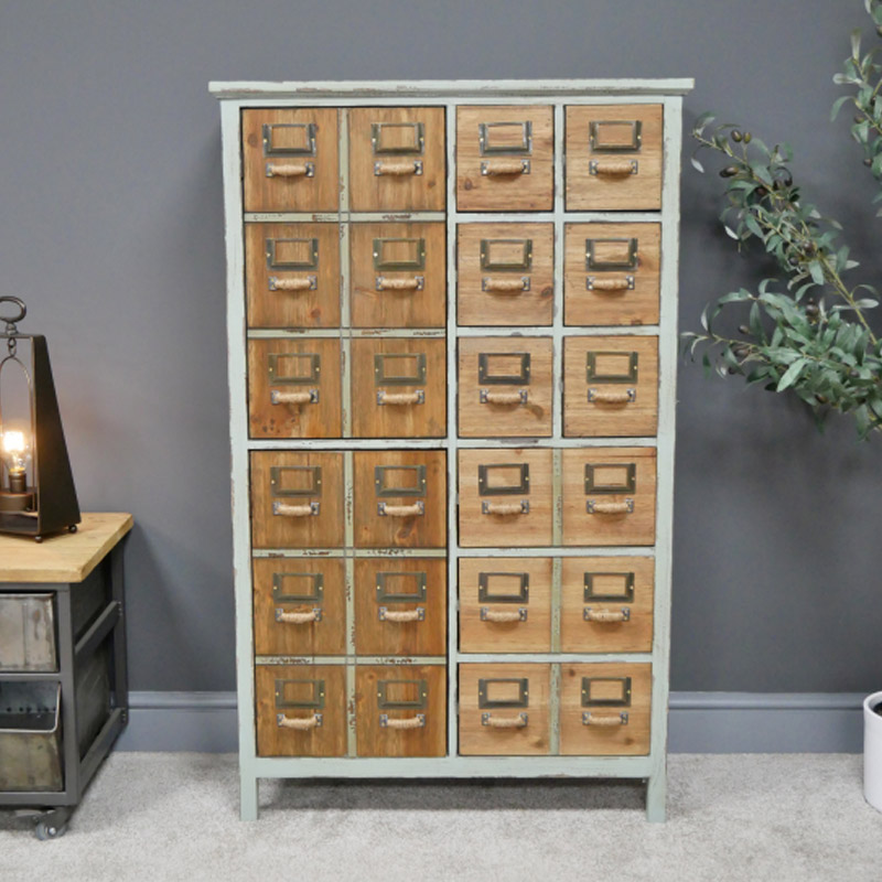Rustic Multi Cupboard Drawer Unit