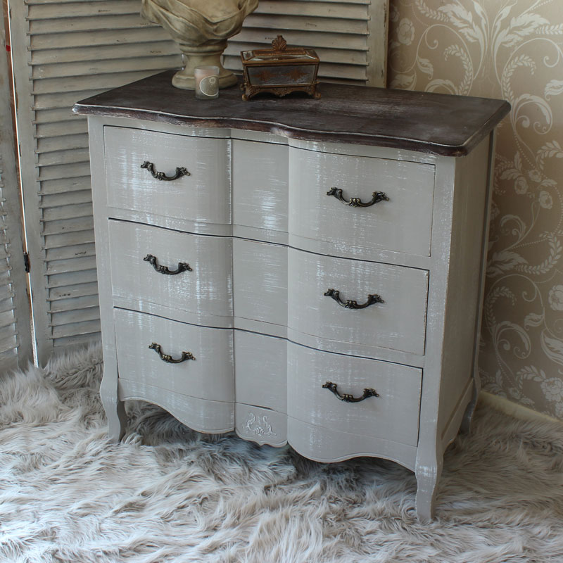 Grey Vintage Chest of Drawers - French Grey Range
