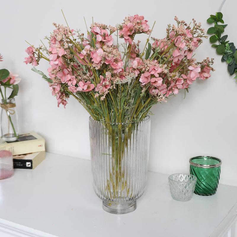 Clear Hurricane Glass Vase