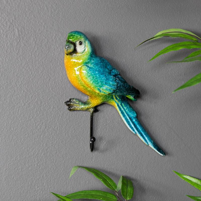 Colourful Parrot Key / Coat Hook