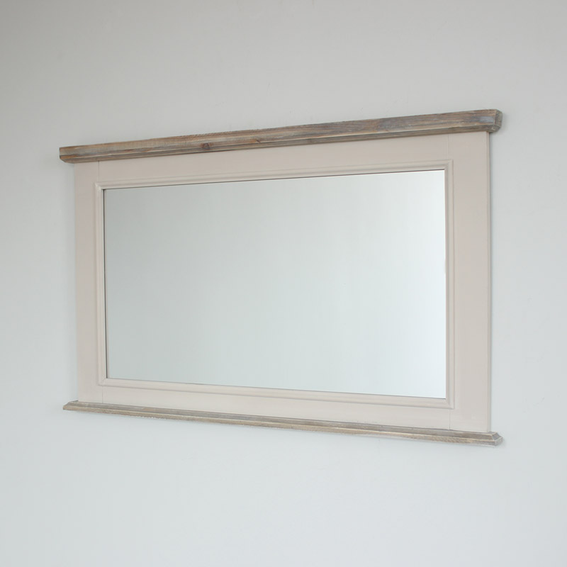 Large Over Mantel Wall Mirror   Cotswold Range 105cm X 62cm