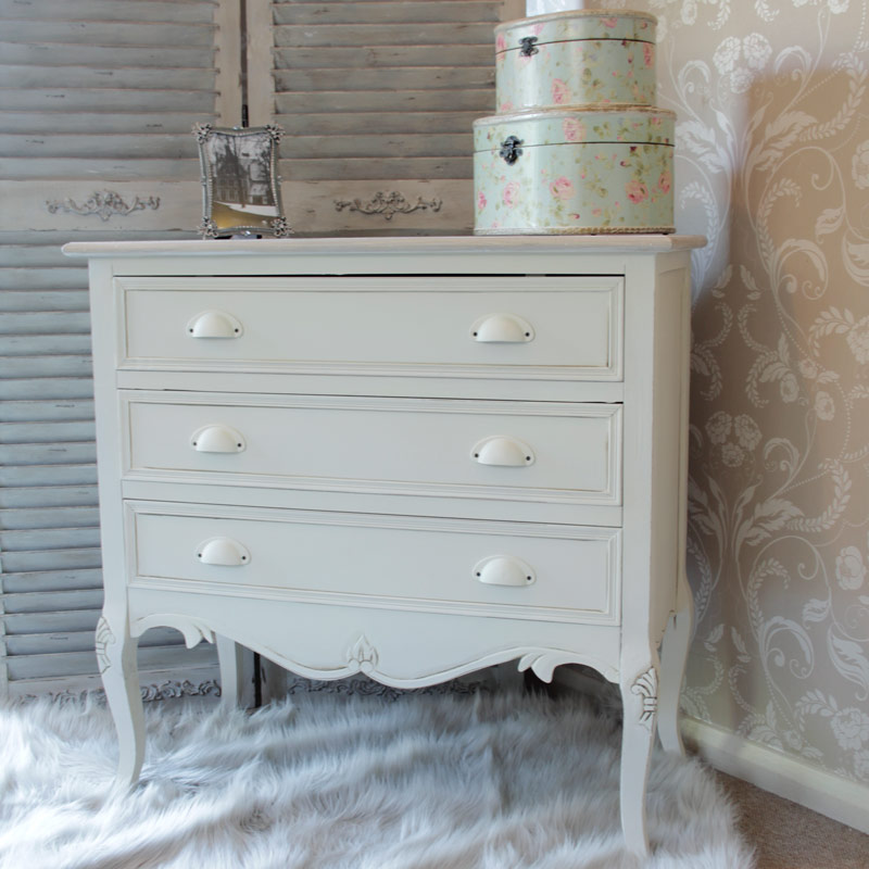 Cream Chest Of Drawers Bedroom Furniture Vintage French Chic