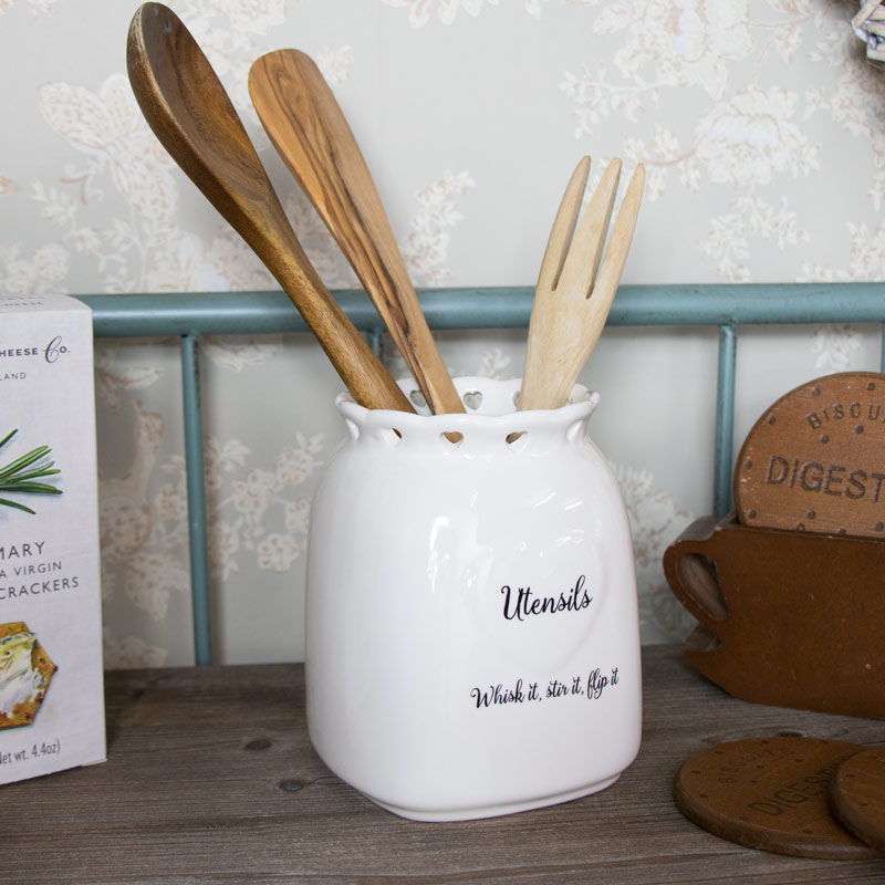 Country Heart Utensil Storage Jar