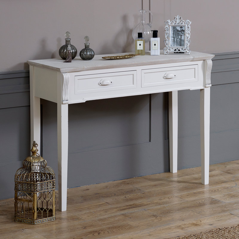 Dressing table lyon range melody maisonr for Cream hall table