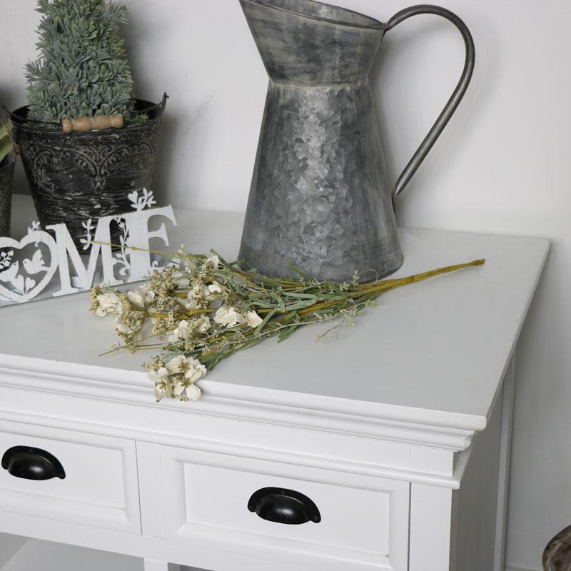 Cream Artificial Spring Flowers Bouquet