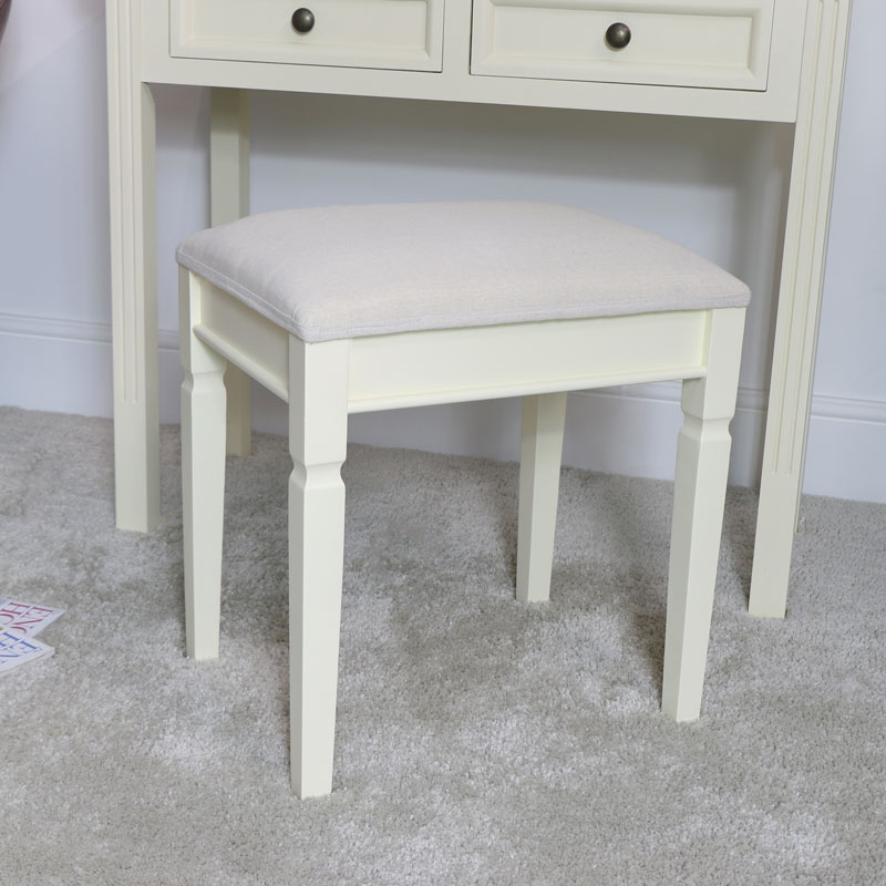 Cream Dressing Table Stool - Daventry Cream Range