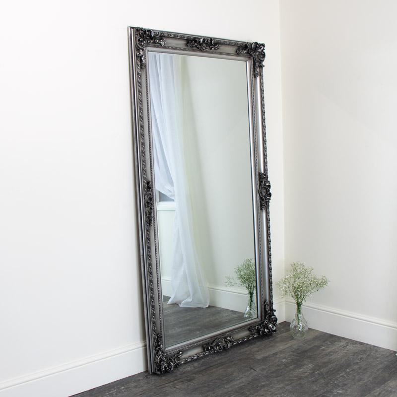 Dark Antique Silver Bevel Mirror 190cm x 100cm