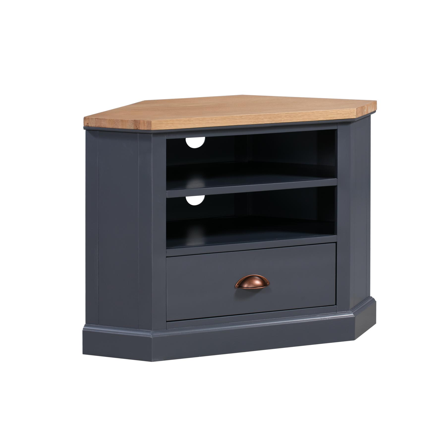 Dark Grey Corner TV Unit - Grayson Range
