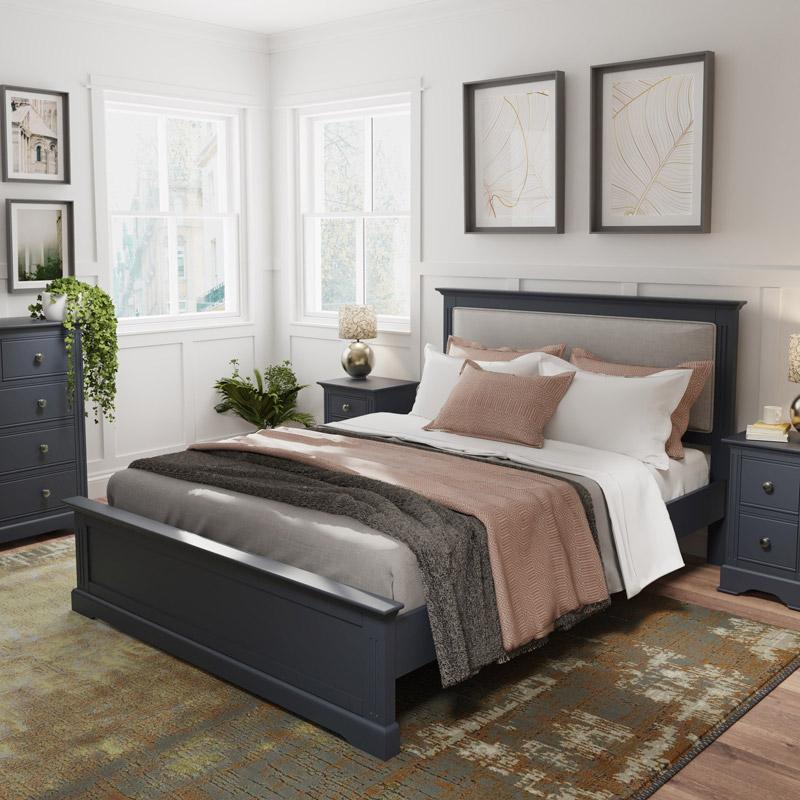 Dark Grey Double Bed - Brooklyn Range