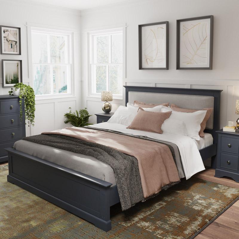 Dark Grey King Size Bed - Brooklyn Range