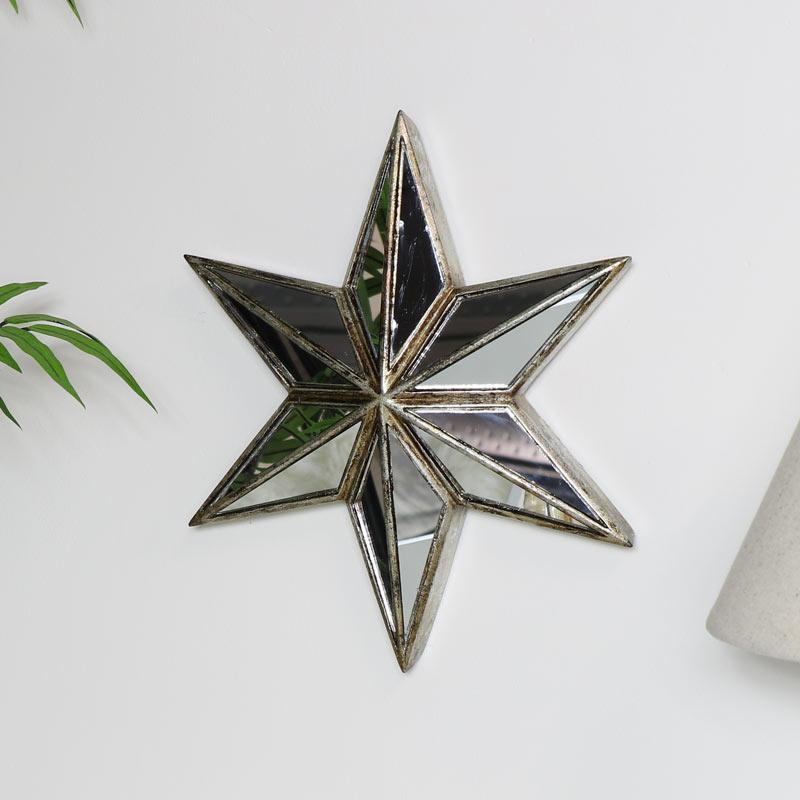 Decorative Star Wall Mirror Art