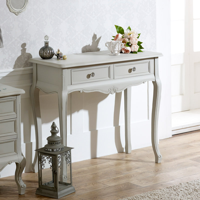 2 Drawer Console/Dressing Table - Elise Grey Range