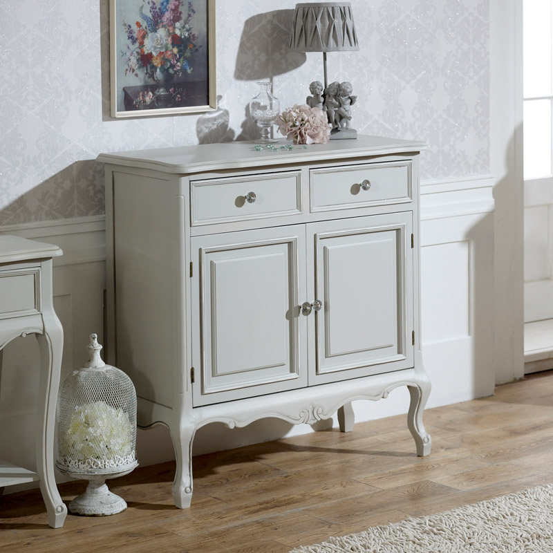 Elise Grey Range - 2 Drawer Sideboard With Cupboards