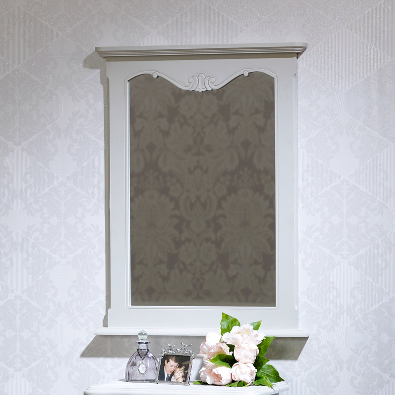 Ornate Grey Wall Mirror - Elise Grey Range 60cm x 80cm