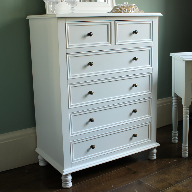 White large bedroom chest of drawers vintage style furniture painted wooden for White bedroom chest of drawers