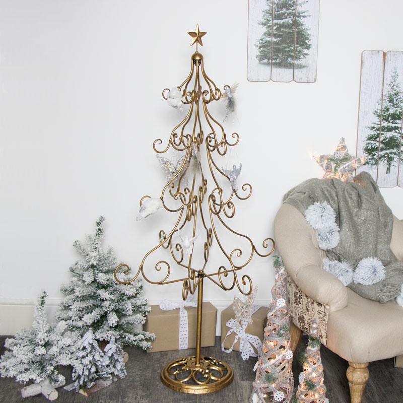 Extra Large Gold Metal Christmas Tree